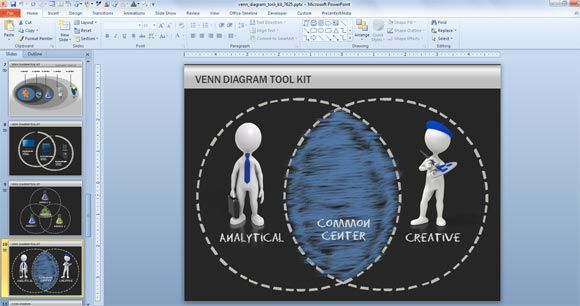 Venn Diagram Toolkit for PowerPoint #PowerPoint #templates