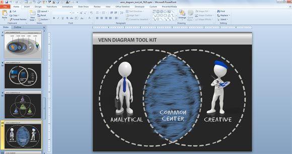 Venn Diagram Toolkit for PowerPoint #PowerPoint #templates