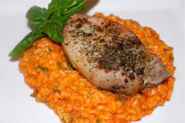Tomato Basil Risotto :: find SC tomatoes & basil @ certifiedscgrown.com