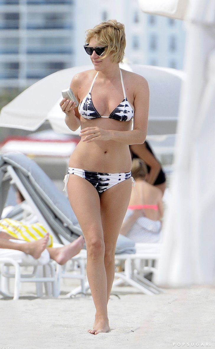 Pin for Later: The Ultimate Celebrity Bikini Gallery  In April 2012, Chloë Sevigny heated up South Beach, Miami, in a black-and-white bikini.