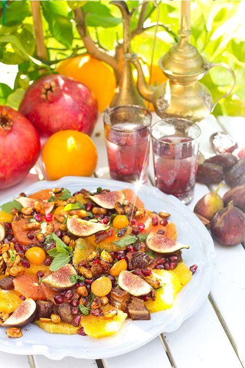 Persisk citrussallad med dadlar, fikon, granatäpple & mynta  #ramadan #eidalfitr