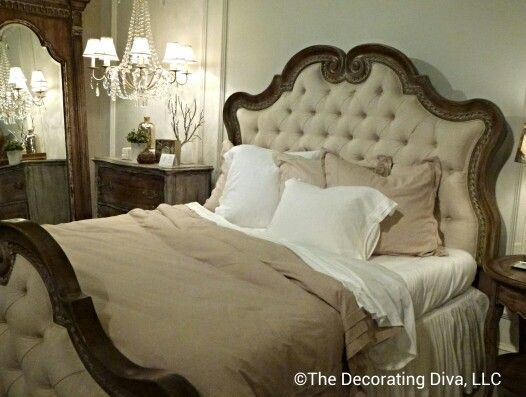 Bedroom: French elegance and romance at Accentrics by Pulaski. Spotted at High Point Market fall 2013. HPMKT#
