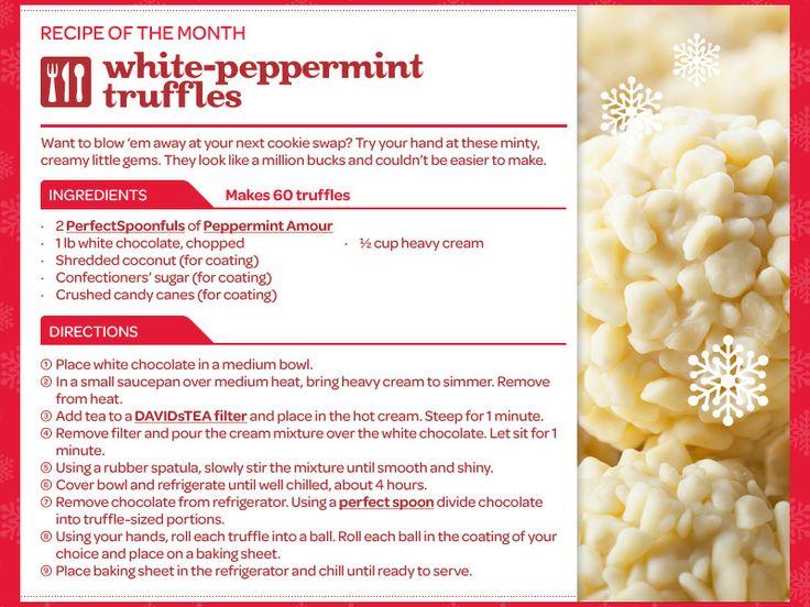 White Peppermint Truffles from Davids Tea