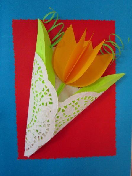 3D tulipán