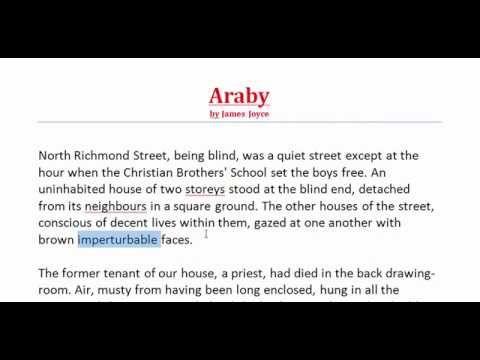 Araby by James Joyce