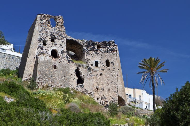 Old medieval tower at Emporio village, Santorini