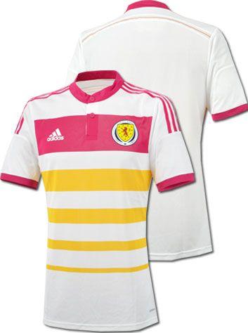 スコットランド代表14/15シーズン用アウェイユニフォーム。