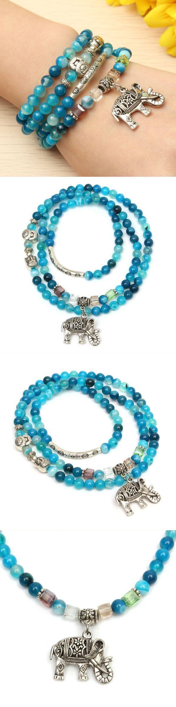 Natural agate crystal vintage multi-layer blue tourmaline buddha head bracelets bracelets gift boxes #bracelets #jewelry #bracelets #nepal #bracelets #with #meaning #gear #s #bracelets
