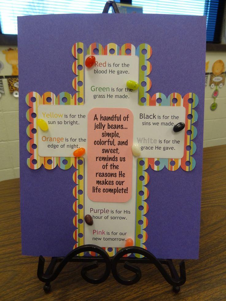 Christian easter craft jelly bean prayer cross for Children s christian crafts