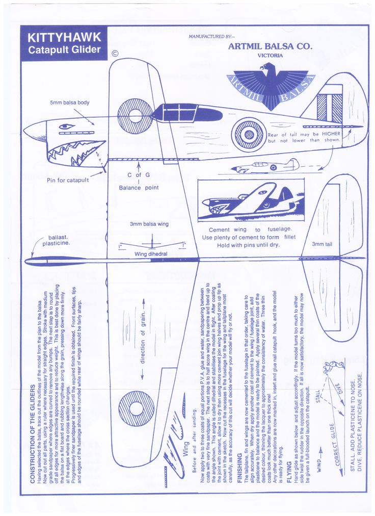 make your own balsa plane instructions or print out and have a cool paper - Cool Stuff To Print Out