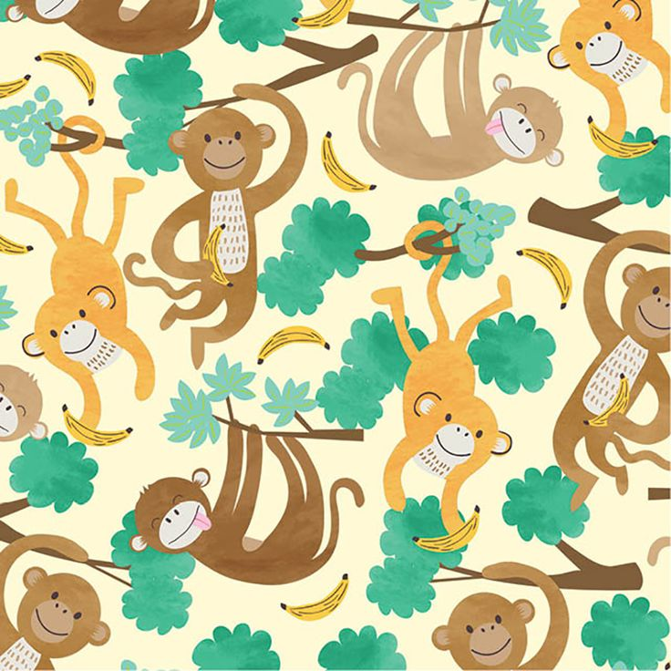Adorable Monkey Business gift wrap! Printed on recycled paper!  #Monkey #Recycled #Paper