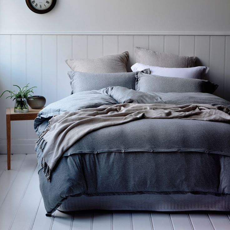 Jersey Bed Linen- yes please! Home Republic Quilt Covers - Jersey Bed Linen, available at Adairs