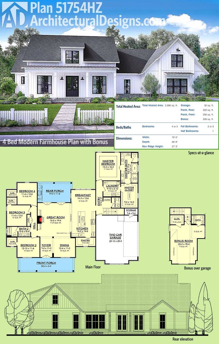 Top Five Plan Architectural Designs Modern Farmhouse