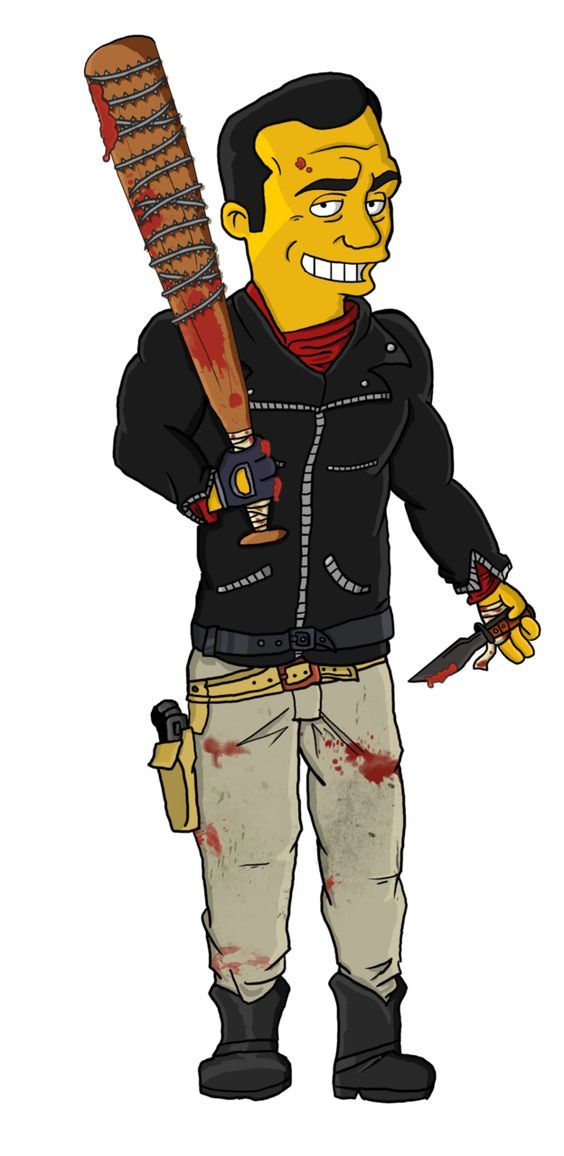 TWD Comics Negan and Lucille Simpsons Style by TheWalkerPrieton on DeviantArt: