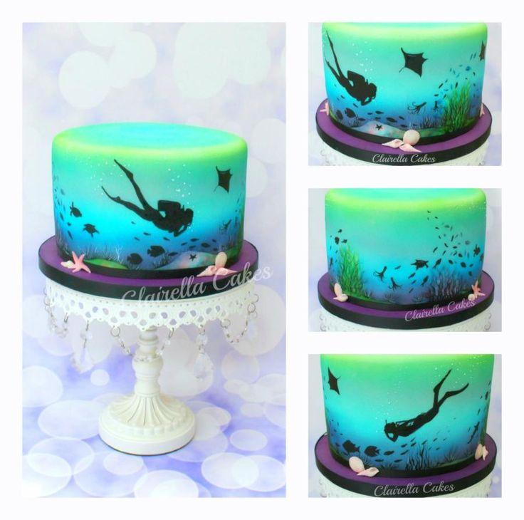 Scuba Diving Cake - Cake by Clairella Cakes