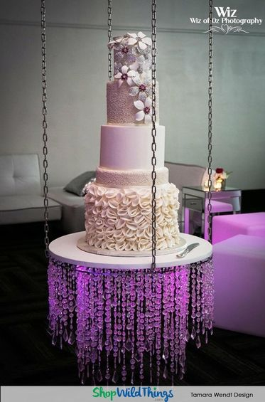 Wedding Lighting Suspended Cakes And The Magic Of Chandeliers