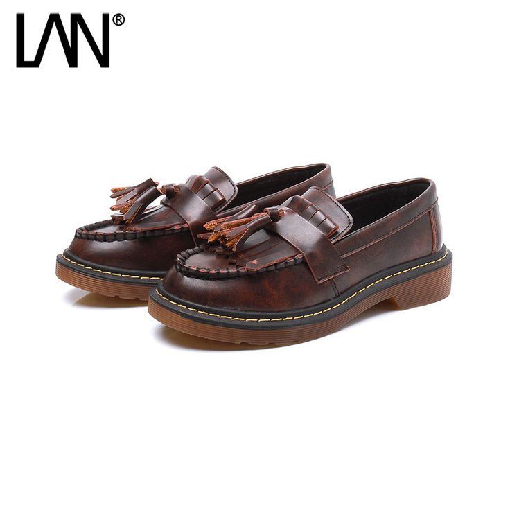 Discount New Arrival Women s Oxfords Shoes Round Toe Casual Tassel Leather Women Platform Creepers Shallow Slip. Click visit to read descriptions