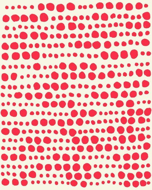 dots #pattern #red #circles