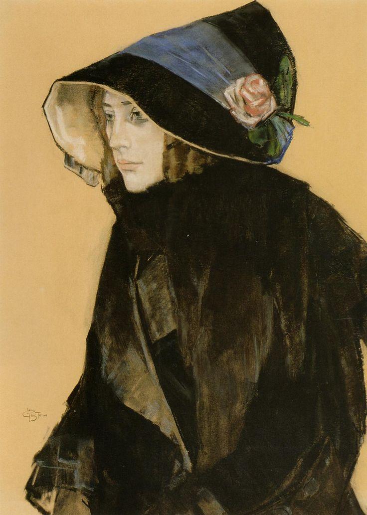 zijperspace:  She Wore Flowers on Her Hat, Day XXII:'Portret van een Jonge Vrouw' - Leo Gestel.