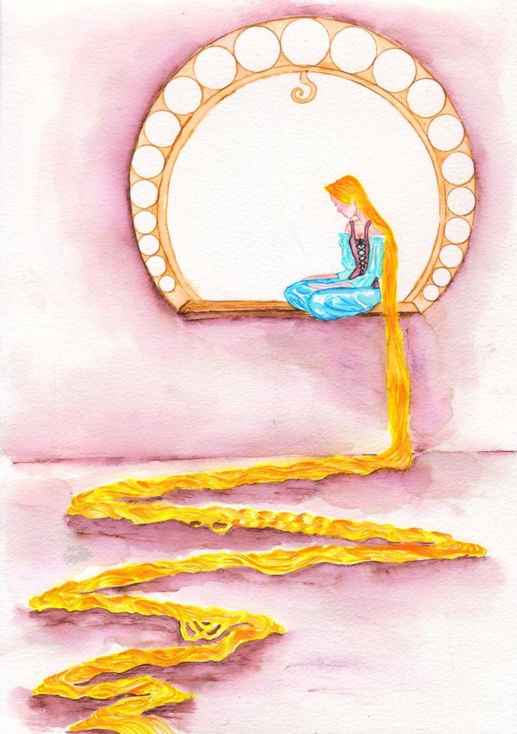 Let Down Thine Silken Hair To Me- Rapunzel by fireburner543.deviantart.com on @DeviantArt