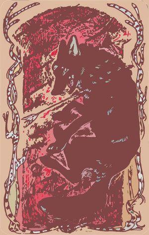 Lobo zhenaura hecho por Photoshop el año pasado