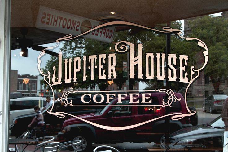Jupiter House Coffee   Starr Studios #lettering #SignPainters