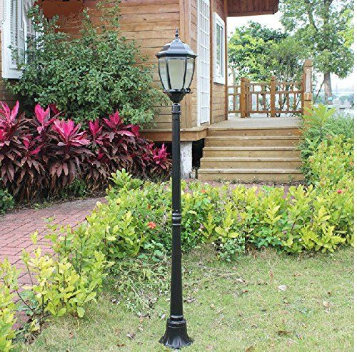 4 Foot Outdoor Solar Powered Lamp Post With Led Lights, 2015 Amazon Top Rated Pond Lights #Lawn&Patio