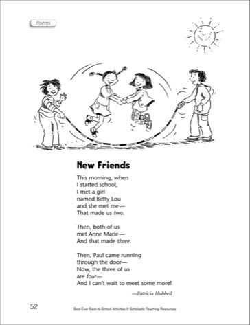 Back to school poems google search