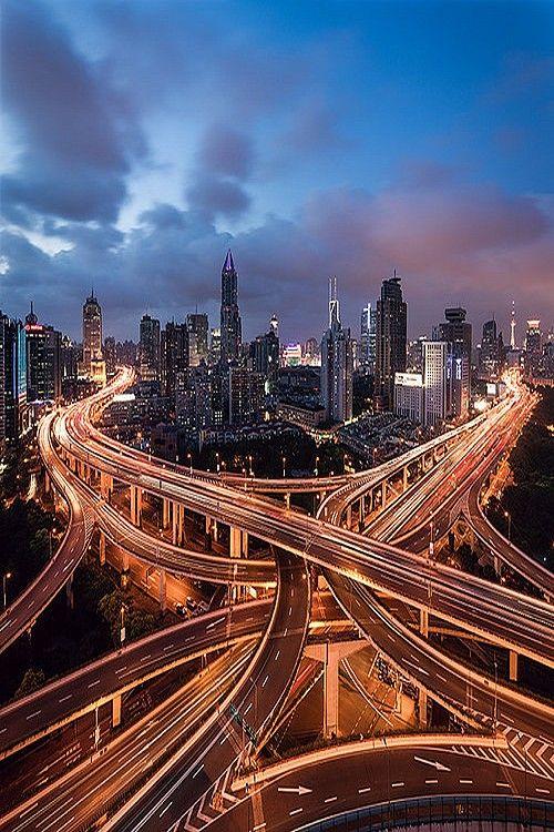 Shangai Traffic by Jens Fersterra