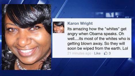 Karon Wright was a Grand Prairie ISD school counselor Read more at http://theblacksphere.net/2013/04/counselor-wishes-whites-dead/#j1LBBmr4QCmazfGF.99