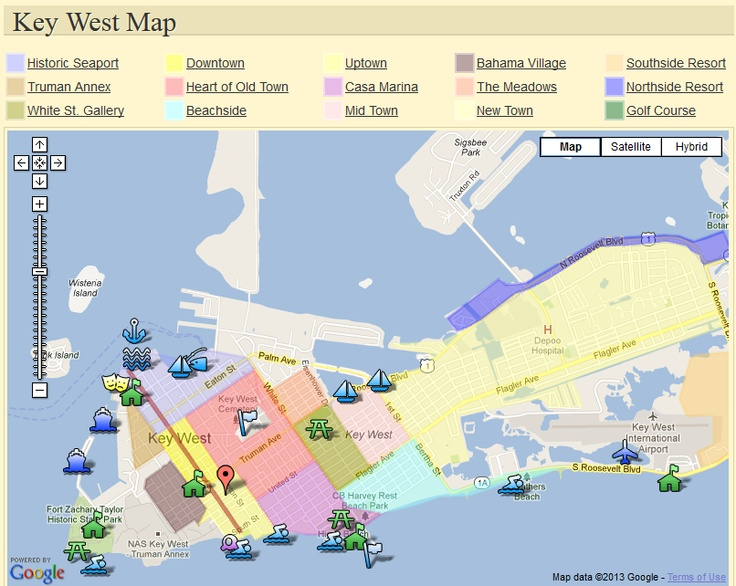 Map of Key West Neighborhoods