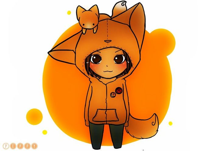 Fox Girl Chibi by hushbee