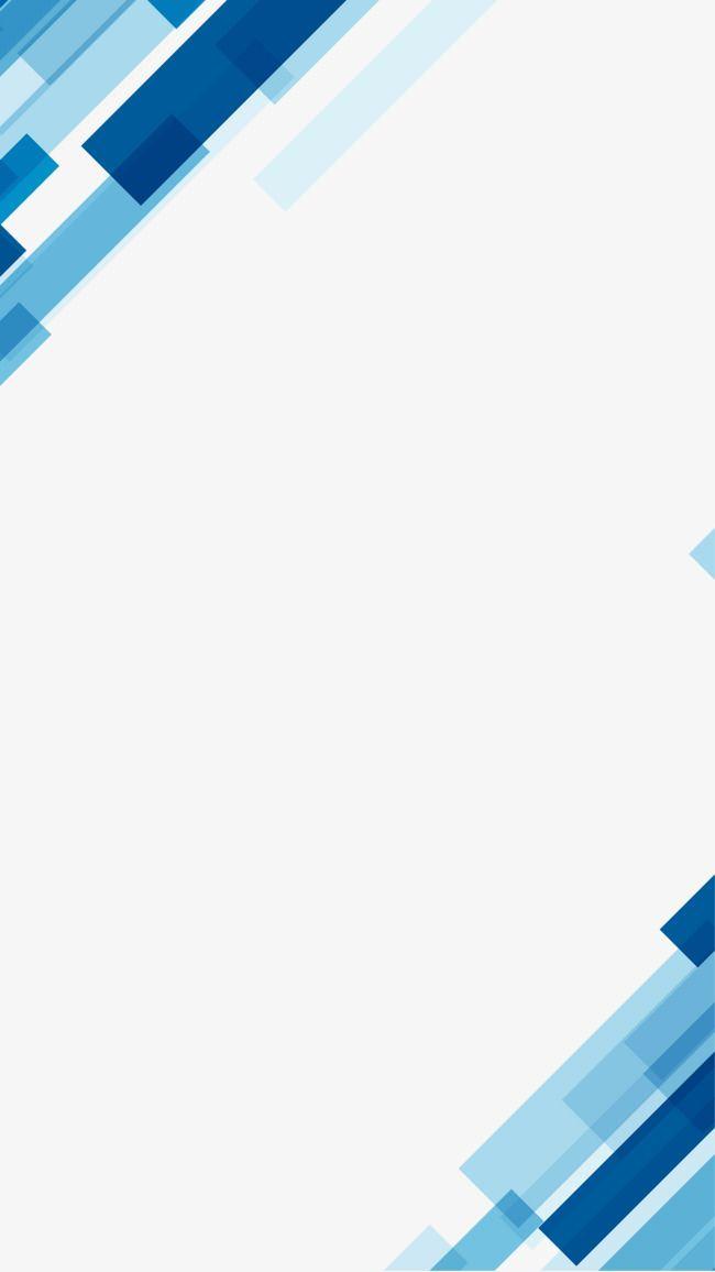 Simple Geometric Blue Business Background Png And Clipart Desain Banner Templat Power Point Desain Brosur