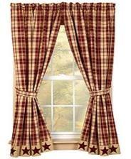 BJ's Country Charm, Primitive Curtains, Homespun Curtains, Curtains