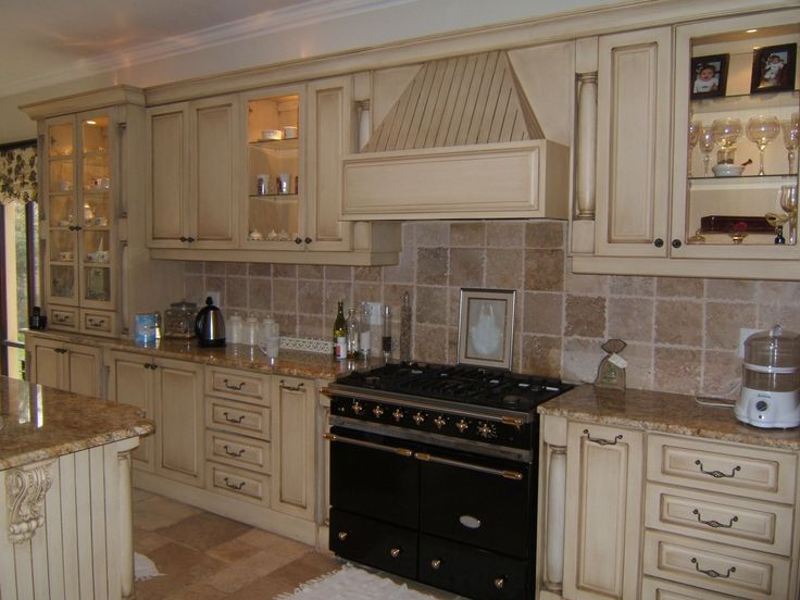 Country Kitchen With Beige Cabinets Part 90
