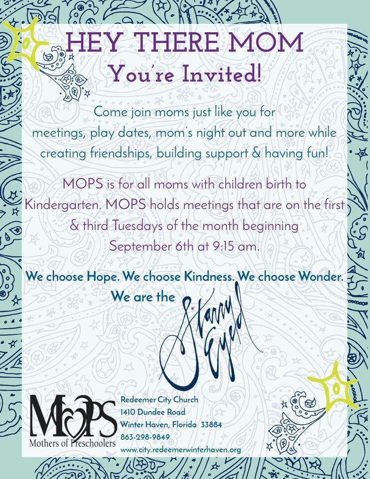Mom Invitation Flyer – MOPS Leaders