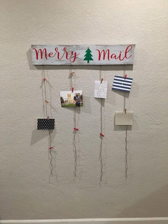 Merry Mail with Christmas Tree by FallingInRustic on Etsy
