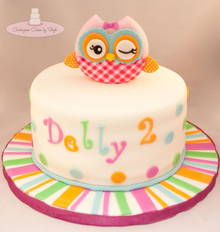 Tartas de cumpleaños - Birthday Cake - Miss Hoot owl cake
