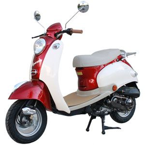50 cc Retro Vespa Style 4 Stroke Moped Scooter  Price: From $718.80 to $897.60