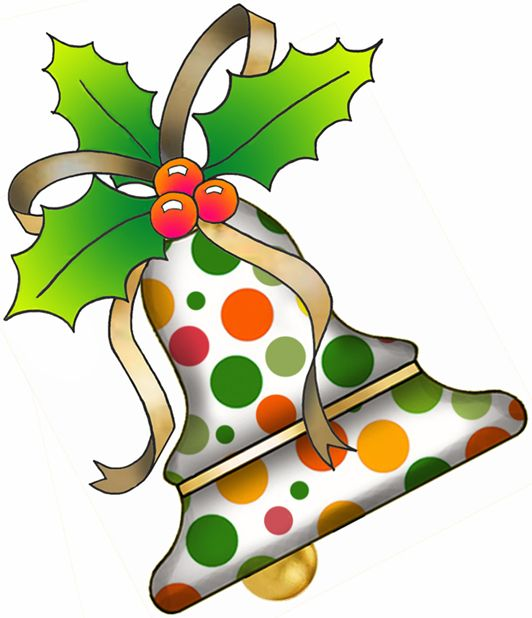artbyjean clipart christmas | christmas holiday prints green orange and yellow polka dots clipart