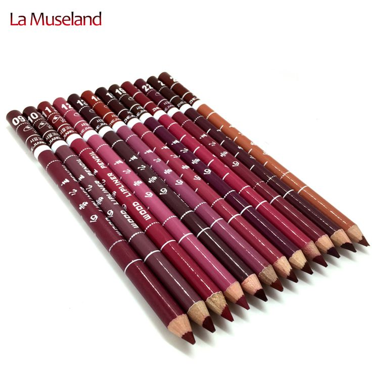 12 Sztuk/zestaw Za Komplet Brand New damska Profesjonalne Lipliner Wodoodporny Eyeliner Pencil 15 CM 12 Kolory #1003