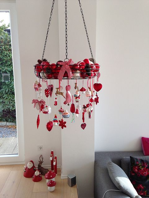 "I'll have to try this out in my kitchen! What a great way to display my collection of ""food-themed"" yule ornaments!"