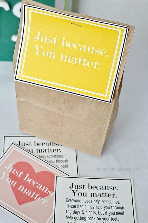 Printables for Blessing Bags from http://www.thirtyhandmadedays.com