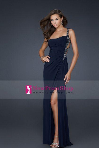 2012 Petite Size sheath One Shoulder Evening Dresses