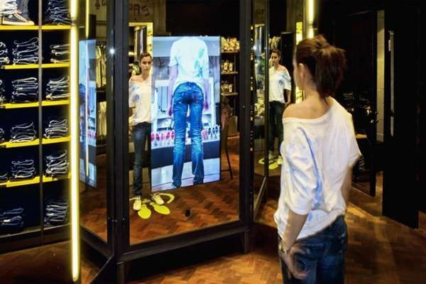 Digital Interactive Mirrors With Virtual Fitting Room