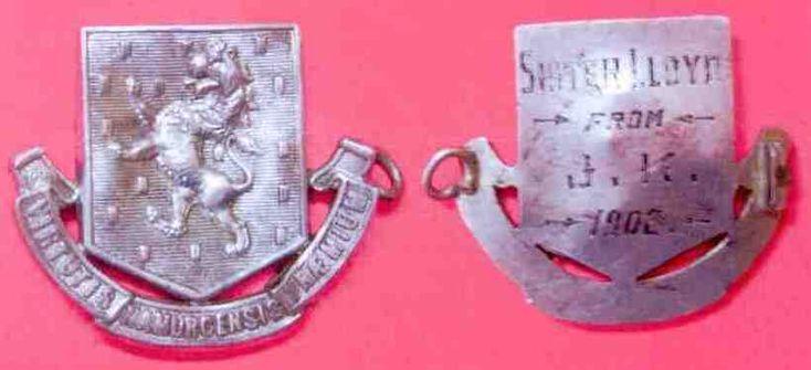 Boer War Officer's badge Royal Irish regiment Latin Motto- Virtutis Namurcensis Praemium Translation- Reward for valour at Namur (Belgium) Found Heidelburg South Africa 2013