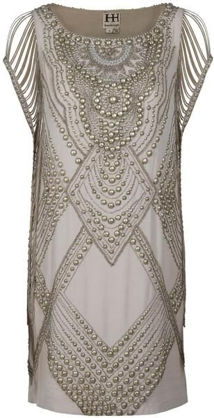 Haute Hippie Studded Dress in Beige-wow this would be fun to have