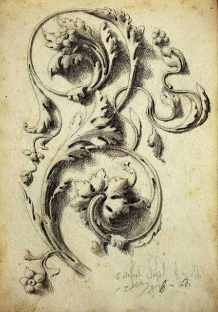 These Baroque decorative scrolls are one of my favorite things to come out of the Baroque era. They are elegantly beautiful and are very different than Victorian style scrolls. This sort of design was commonly used in Ephemera pieces during the time meaning they were on paper production that would have most likely been thrown away after its use.