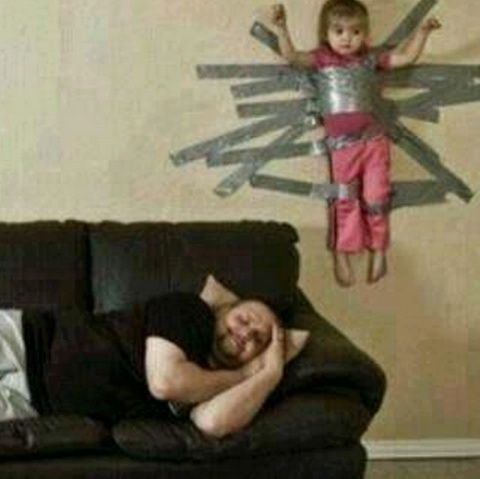 Funny Parenting Gaffer Duct Tape Child Picture