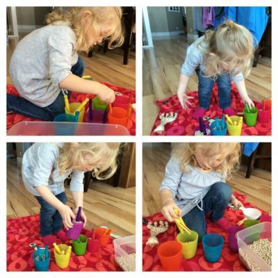 A colourful sensory play idea for toddlers, preschoolers, and big kids. Keep little hands busy, or make a game out of it!